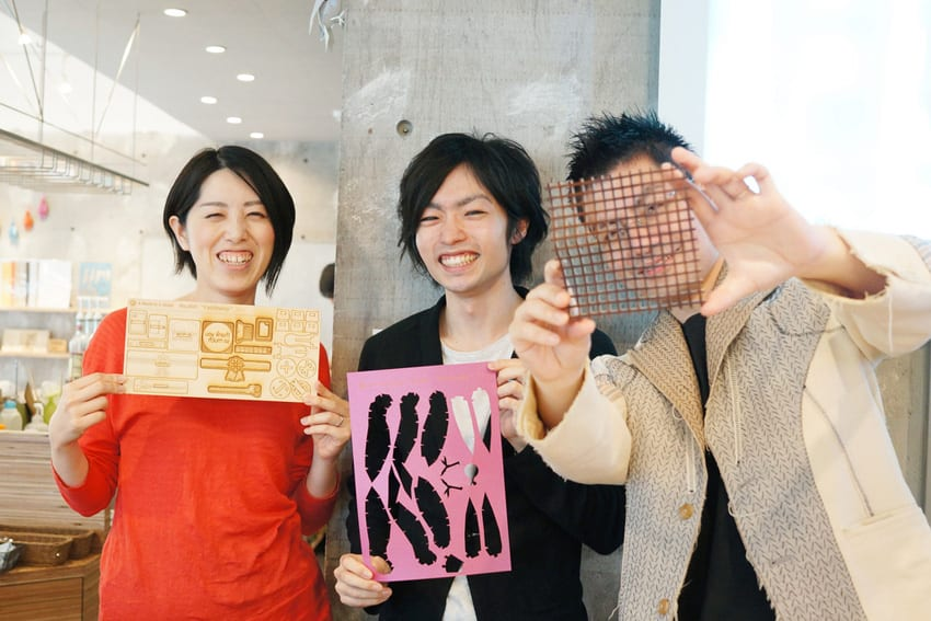 Mr. Naruse and Mr. Inokuma who designed the FabCafe store