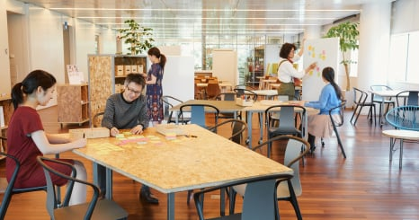 企業内外のコラボレーションのための共創スペース